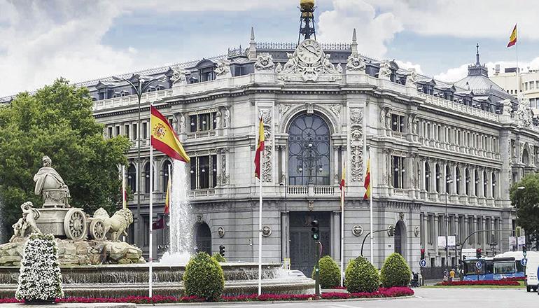 Der Sitz der Spanischen Zentralbank in Madrid Foto: EFE