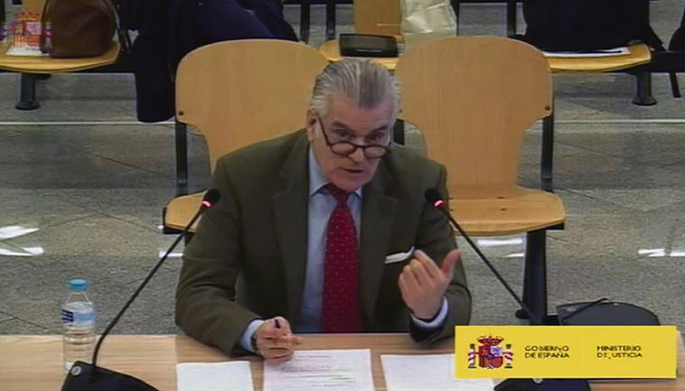 Luis Bárcenas am 09. März 2021 vor Gericht Foto: EFE/Audiencia Nacional