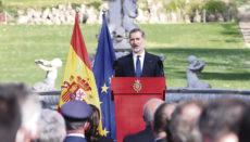 Die Gedenkzeremonie fand in den Gärten des Königspalastes in Madrid statt. Foto: Casa de S.M. el Rey