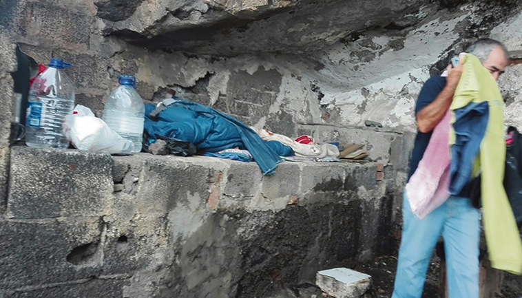Familien werden durch die Pandemie obdachlos. Foto: Caritas