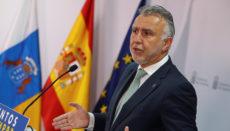 Der kanarische Regierungschef Ángel Víctor Torres informierte im Anschluss an die Kabinettssitzung über die Änderungen. Foto: EFE