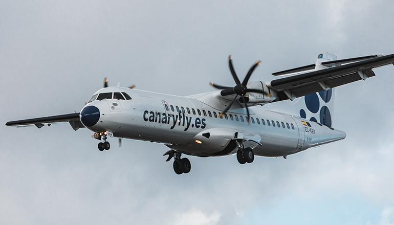 Die kanarische Low-Cost-Airline Canaryfly nimmt die Passagierflüge zwischen den Inseln wieder auf. Foto: Canaryfly