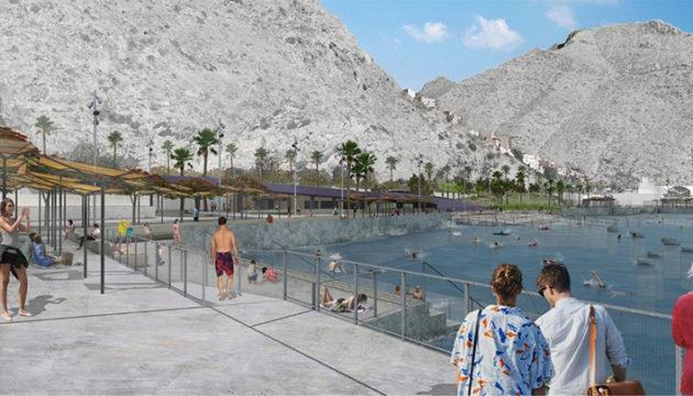 Projektgrafik der zukünftigen Badebucht in der Verlängerung des Hafens von Santa Cruz Grafik: Ayuntamiento de santa cRuz de Tenerife