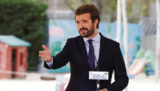 Pablo Casado kündigte die Absicht seiner Partei an, die Reform vor dem Verfassungsgericht anzufechten. Foto:EFE