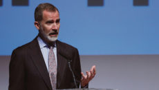 König Felipe VI. während seiner Rede zur Verleihung der CEPYME-Preise im Museum Reina Sofía in Madrid Foto: EFE