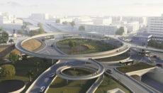 Die Fußgängerüberführung wird wie ein Ring über dem Kreisverkehr schweben. Foto: fhecor /Cabildo de tenerife