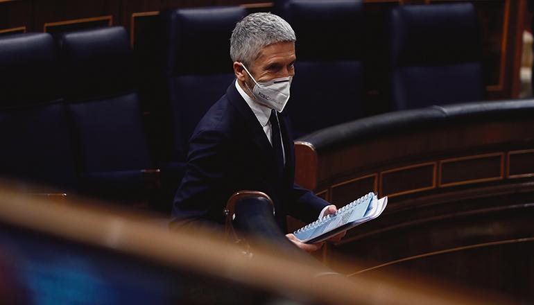 Innenminister Grande-Marlaska im Abgeordnetenhaus Foto: efe