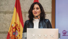 Isabel Díaz Ayuso (PP) kämpf mit harten Bandagen. Foto: EFE