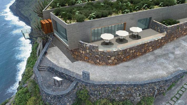 DIe Grafik zeigt, wie der Mirador von Gallegos an der Nordküste der Isla Bonita aussehen soll, wenn er fertiggestellt ist. Foto: Cabildo de La Palma