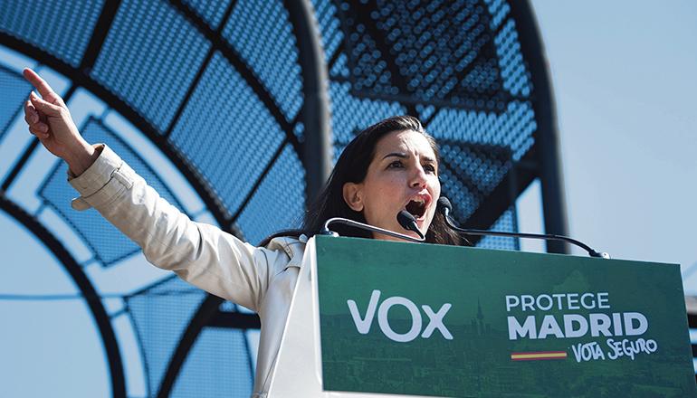 Rocío Monasterio tritt für die rechtspopulistische VOX in Madrid an. Foto: EFE