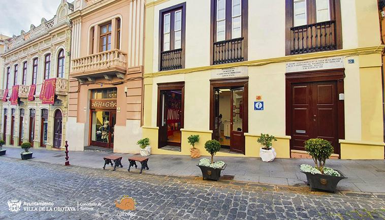 Die neue Touristen-Information befindet sich in der C/ Carrera Escultor Estévez Nr. 5 nahe dem Rathaus. Foto: Ayuntamiento La Orotava