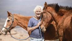 Steve Travis mit Pferden Fotos: Lea Klier