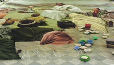 In früheren Jahren füllten die kunstvollen religiösen Gemälde aus Sand fast die gesamte Plaza vor dem Ayuntamiento von La Orotava aus. Foto: Moisés Pérez
