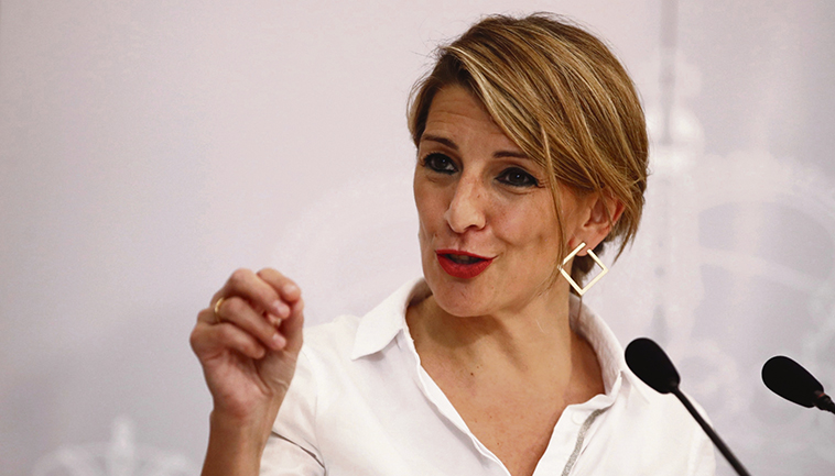 Arbeitsministerin Yolanda Díaz Foto: EFE