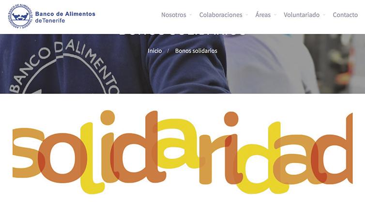 Die Website der Lebensmittelbank informiert Unternehmen, die Überschüsse spenden wollen, und Privatpersonen, die Interesse haben, als freiwillige Helfer mitzuarbeiten. Außerdem gibt es Rezepte für einfache und nahrhafte Gerichte aus Grundnahrungsmitteln. (bancoalimentostfe.org) Foto: Banco de Alimentos de Tenerife