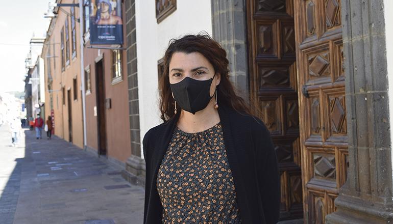 Tourismus-Stadträtin María José Roca kündigte Sonderführungen durch die Calle San Agustín an. Foto: Ayto LL