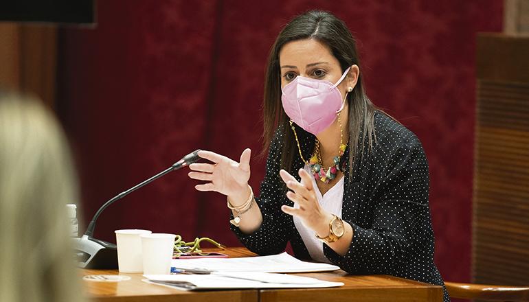 Die kanarische Tourismusministerin Yaiza Castilla hält die Ankündigung von Lufthansa für ein Zeichen dafür, dass die Nachfrage wieder steigt. Foto: efe