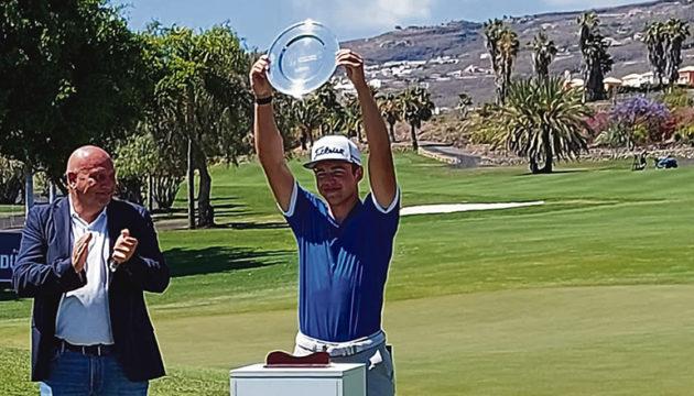 Strahlender Sieger: Garrick Higgo gewann zwei der Turniere der European Tour auf den Kanaren. Foto: Tenerife golf