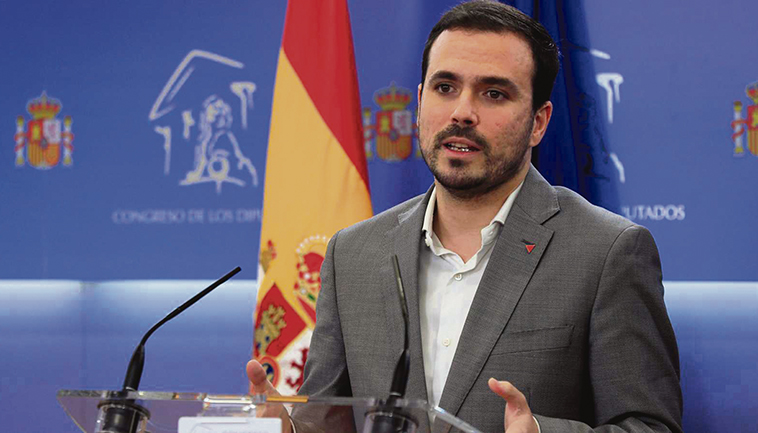 Verbraucherschutzminister Alberto Garzón Foto: EFE