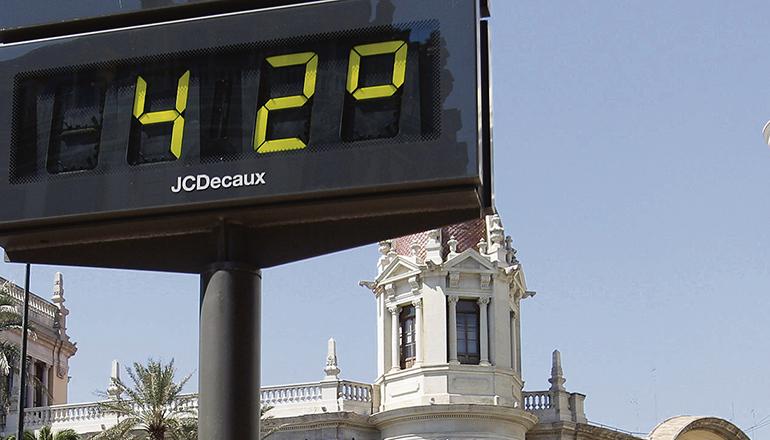 2020 gab es in Spanien drei Hitzewellen. Foto: efe