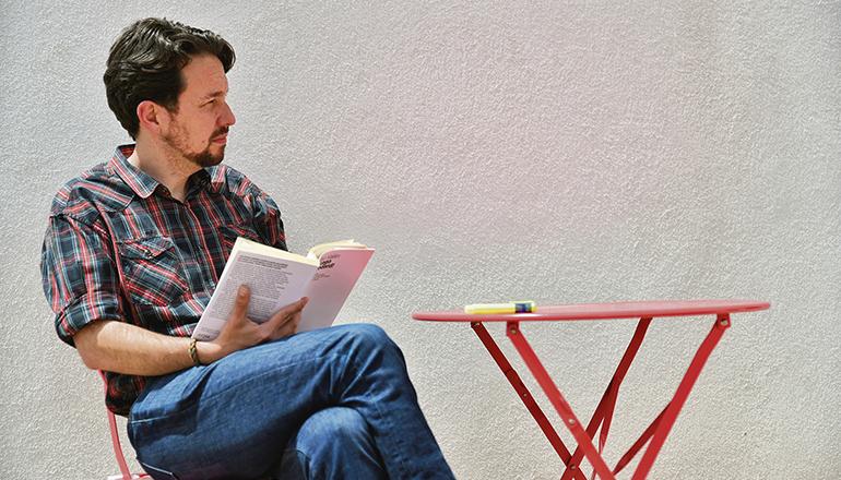 Haarpracht adieu. Das Bild von Pablo Iglesias mit neuem Look ging durch die Medien. Foto: EFE