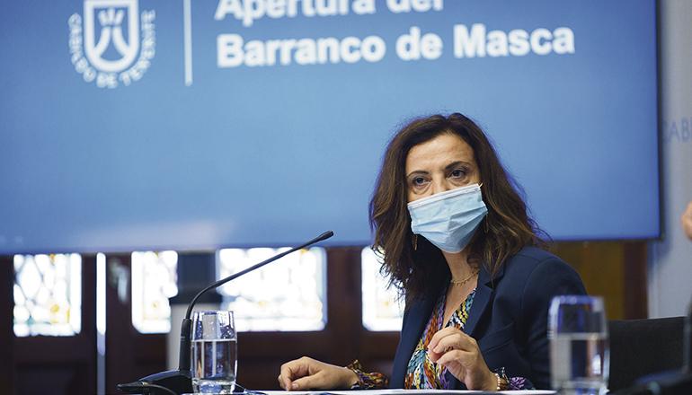 Die Inselrätin für Natur und Sicherheit, Isabel García, zog eine positive Bilanz der ersten Wochen nach der Öffnung des Barranco de Masca. Fotos: Cabildo de Tenerife