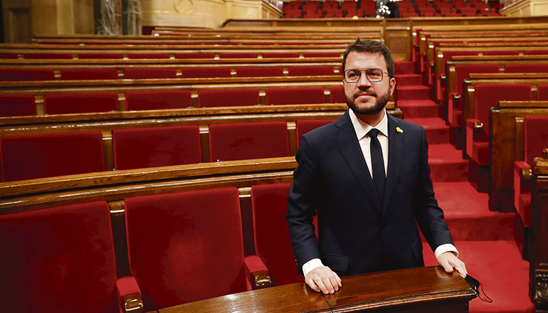 Pere Aragonès von der Republikanischen Linken ERC wurde zum neuen Präsidenten Kataloniens gewählt. Foto: EFE