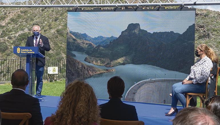 Cabildo-Präsident Antonio Morales während der Präsentation Foto: Cabildo de Gran Canaria