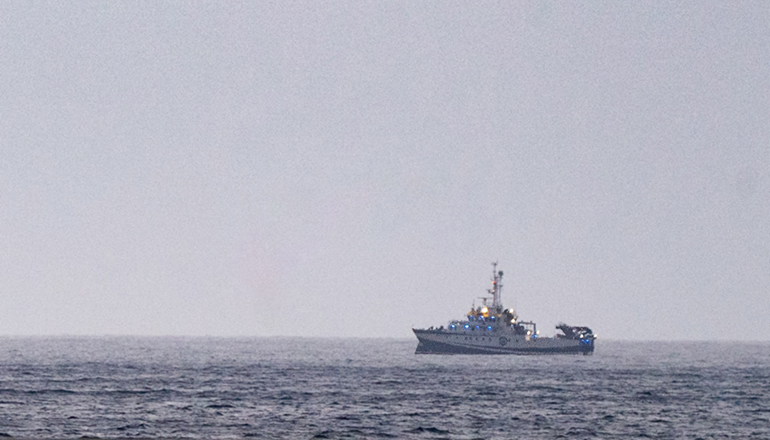 """Seit dem 29. Mai befindet sich das spanische Forschungsschiff """"Ángeles Alvariño"""" auf Teneriffa. Foto: efe"""