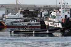 """Die Guardia Civil und das Forschungsschiff """"Ángeles Alvariño"""" setzen die Suche fort. Foto: EFE"""