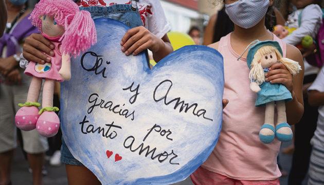 Anteilnahme im ganzen Land: Überall fanden Kundgebungen gegen Gewalt an Frauen und Kindern statt. Foto: EFE