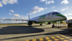 Das Flugzeug wurde auf den Namen Fuerteventura getauft. Foto: Binter