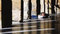 Wohnungsloser in den Straßen von San Sebastián Foto: EFE