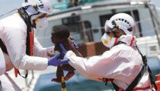 Am 20. Juni wurden 45 Personen südlich von Gran Canaria gerettet, darunter waren acht Kinder. Fotos: EFE