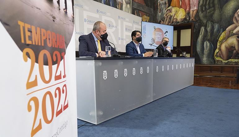 Das Programm für die Monate September bis Dezember 2021 und Februar bis Juni 2022 wurde im Cabildo vorgestellt. Foto: cabildo de tenerife