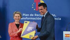EU-Kommissionspräsidentin Ursula von der Leyen und der spanische Ministerpräsident Pedro Sánchez in Madrid Foto: efe