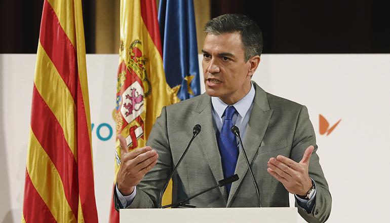 Präsident Pedro Sánchez bei einer Veranstaltung in Katalonien am 7. Juni. Foto: efe