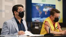 Teneriffas Cabildo-Präsident Pedro Martín stellte die diesjährige Waldbrandschutzkampagne gemeinsam mit dem Chef der Forstschutzab- teilung vor. Foto: cabildo de tenerife