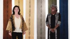 Irene López de Castro bei der Eröffnung der Ausstellung, die in der Casa África in Las Palmas noch bis zum 30. September 2021 zu sehen ist Foto: efe