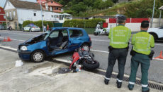 Bei einem Verkehrsunfall, der sich Ende Juni in Redondela, Vigo, ereignete, kam ein Motorradfahrer ums Leben. Foto: EFE