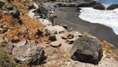 Große Felsbrocken und Geröll müssen weggeräumt werden. Fotos: Ayto de La Orotava