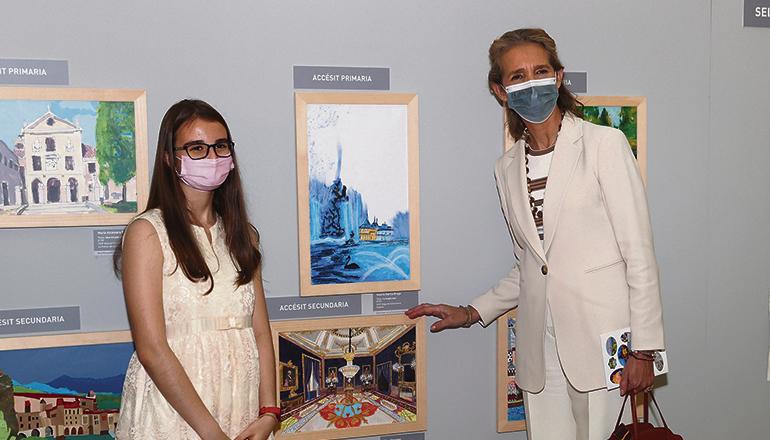 Elena de Borbón bei der Verleihung der Preise der 30. Ausgabe des Malwettbewerbs über Kulturerbe