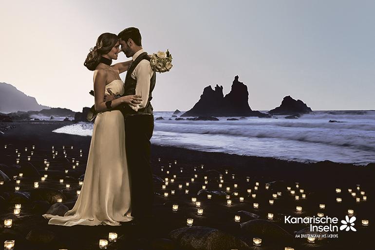 Aufgrund des Klimas, der landschaftlichen Schönheit und letztlich auch der Auswahl an Veranstaltungsorten sind die Kanaren ein beliebter Ort für Hochzeiten. Viele Paare haben jedoch ihren Heiratstermin wegen der Restriktionen auf das kommende Jahr verschoben. Foto: Canary Islands