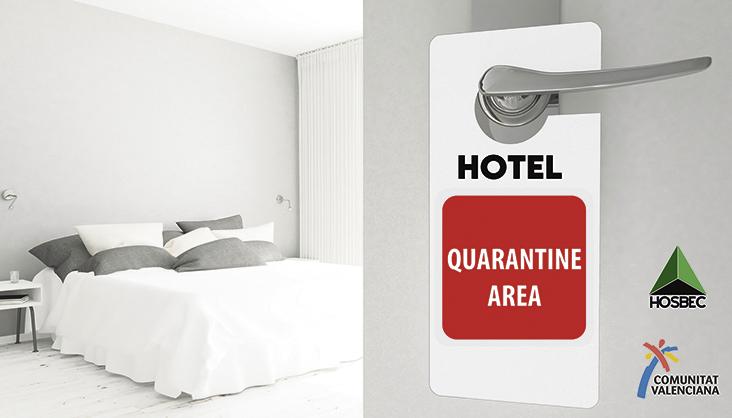 """Der Unternehmerverband Hosbec setzt das Programm """"Hospitality Tourism 2021"""" gemeinsam mit der Tourismusbehörde der Region Valencia um. Teil des Programms ist die Bereitstellung von Hotelzimmern für an Covid-19 erkrankte Urlauber in sogenannten """"Hoteles Refugio"""". Foto: Hosbec"""