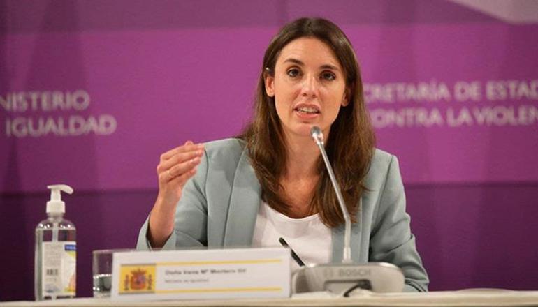Die Ministerin für Gleichstellung im Kabinett von Pedro Sánchez, Irene Montero. Der Gesetzentwurf wurde vom Ministerium für Gleichstellung und vom Justizministerium vorangetrieben. Foto: La Moncloa