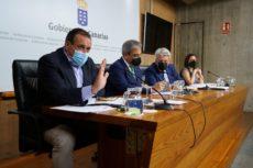 Der kanarische Ministerrat hat in einer Pressekonferenz seine Beschlüsse über die Modifizierung der Warnstufen bekanntgegeben. Foto: EFE