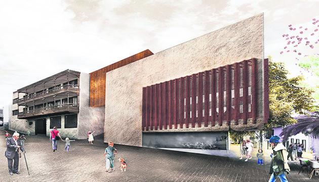 Cabildo-Präsident Martín (l.) und Architekt Fernando Menis (2. v.r.) unterzeichneten das Protokoll für den Baubeginn. Foto: Menis arquitectos/cabildo de tenerife