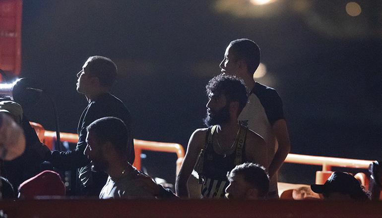 18 Maghrebiner wurden am 16. Juli 150 km südwestlich von Gran Canaria gerettet. An Bord befand sich ein Toter. Foto: EFE