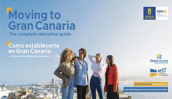 """Die Broschüre """"Moving to Gran Canaria"""" wird von der Inselverwaltung zum Download bereitgestellt. Foto: Cabildo de Gran Canaria"""