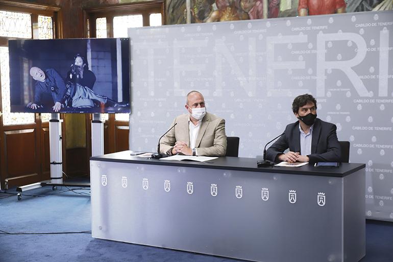 Enrique Arriaga und Alejandro Krawietz bei der Präsentation der neuen Spielzeit Foto: cabtf